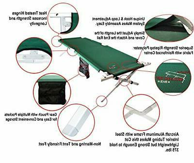 BYER OF MAINE Military Cot, Folding cot, Aluminum/Steel