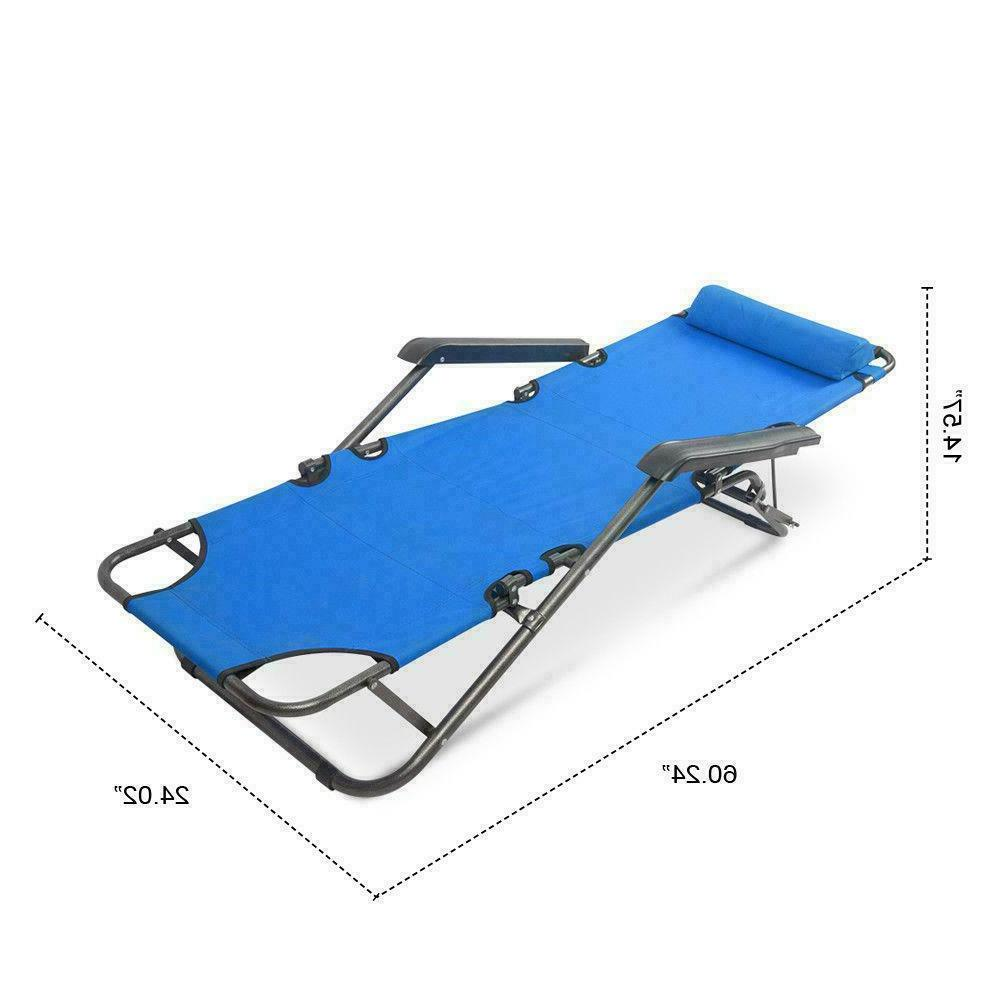 New Portable Folding Camping Bed Hiking Guest Travel Blue