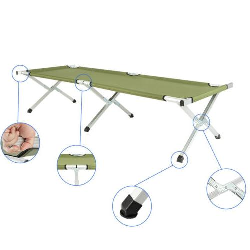 RHB-03A Portable Camping Cot with Army Green