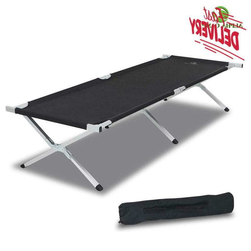 oversized camping cot support 500 lbs aluminum