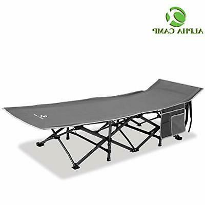 oversized camping cot supports 600 lbs sleeping