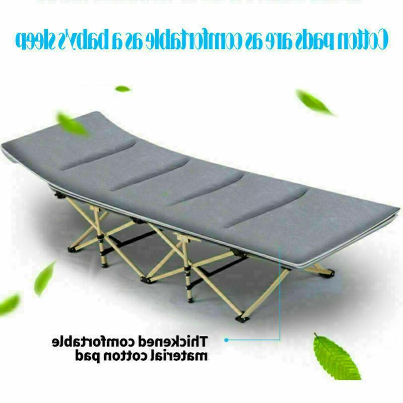 Portable Folding Camping Hiking Nap Bed w/Mattress+Carry