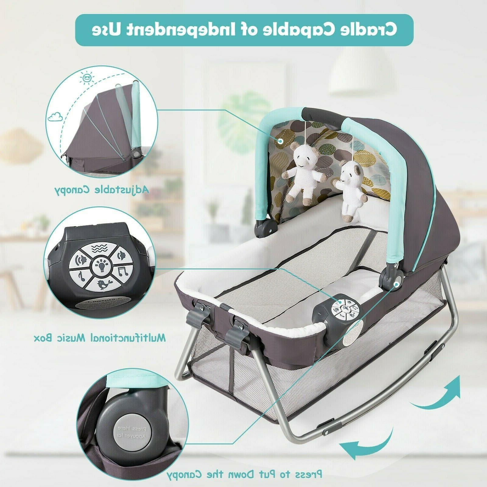 Travel Nursery Play With Bassinet Bed 4in1