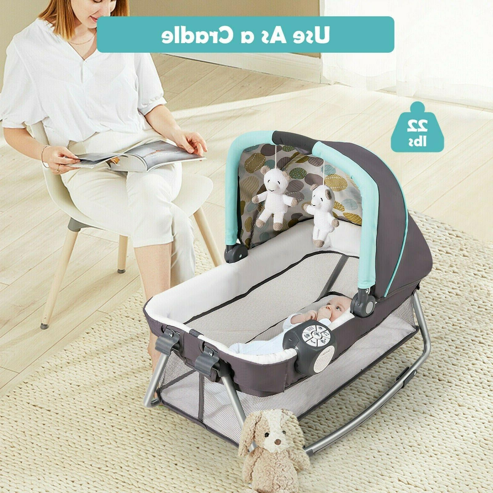 Travel Cot Nursery Playard Play With Bassinet 4in1