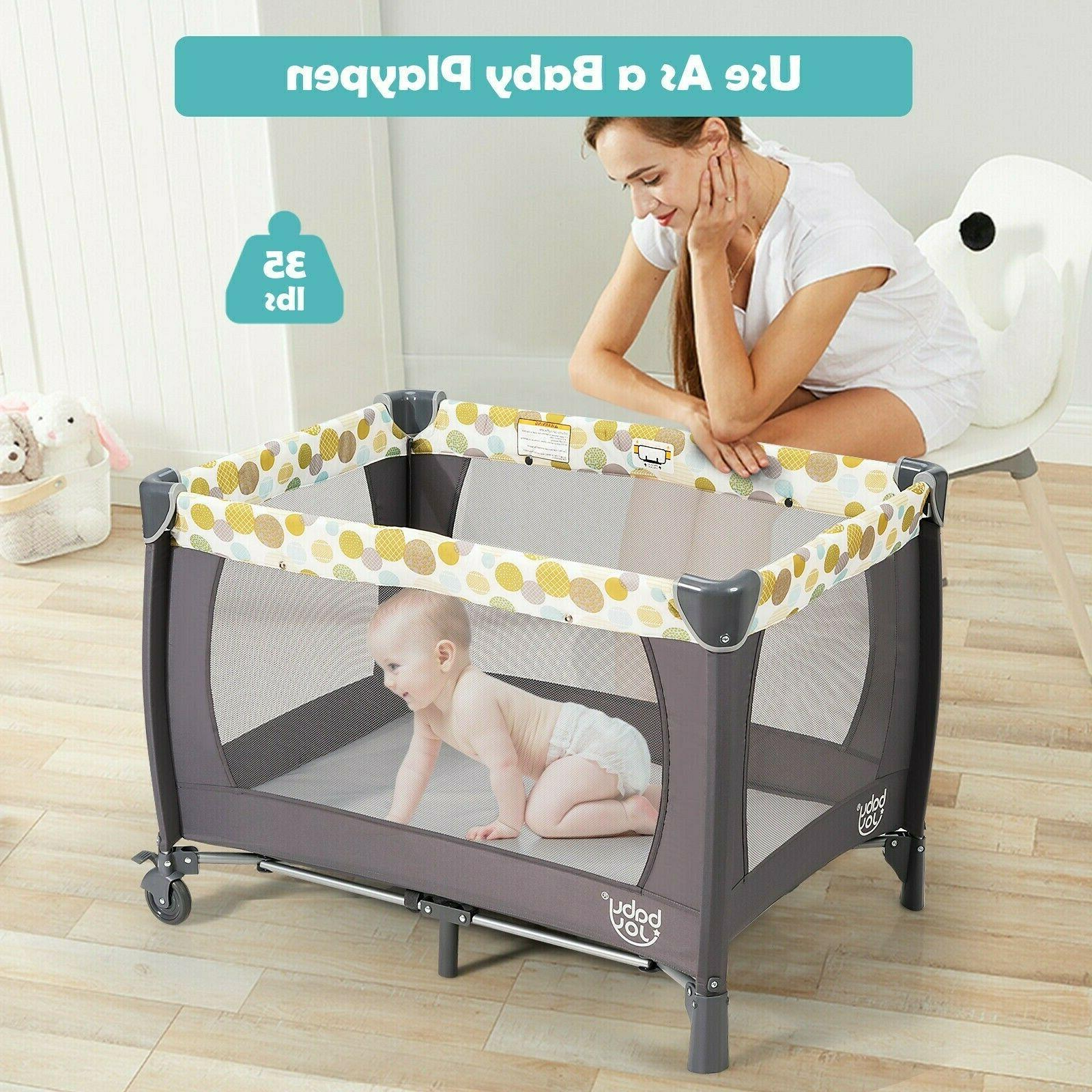 Travel Nursery Center With Bassinet 4in1