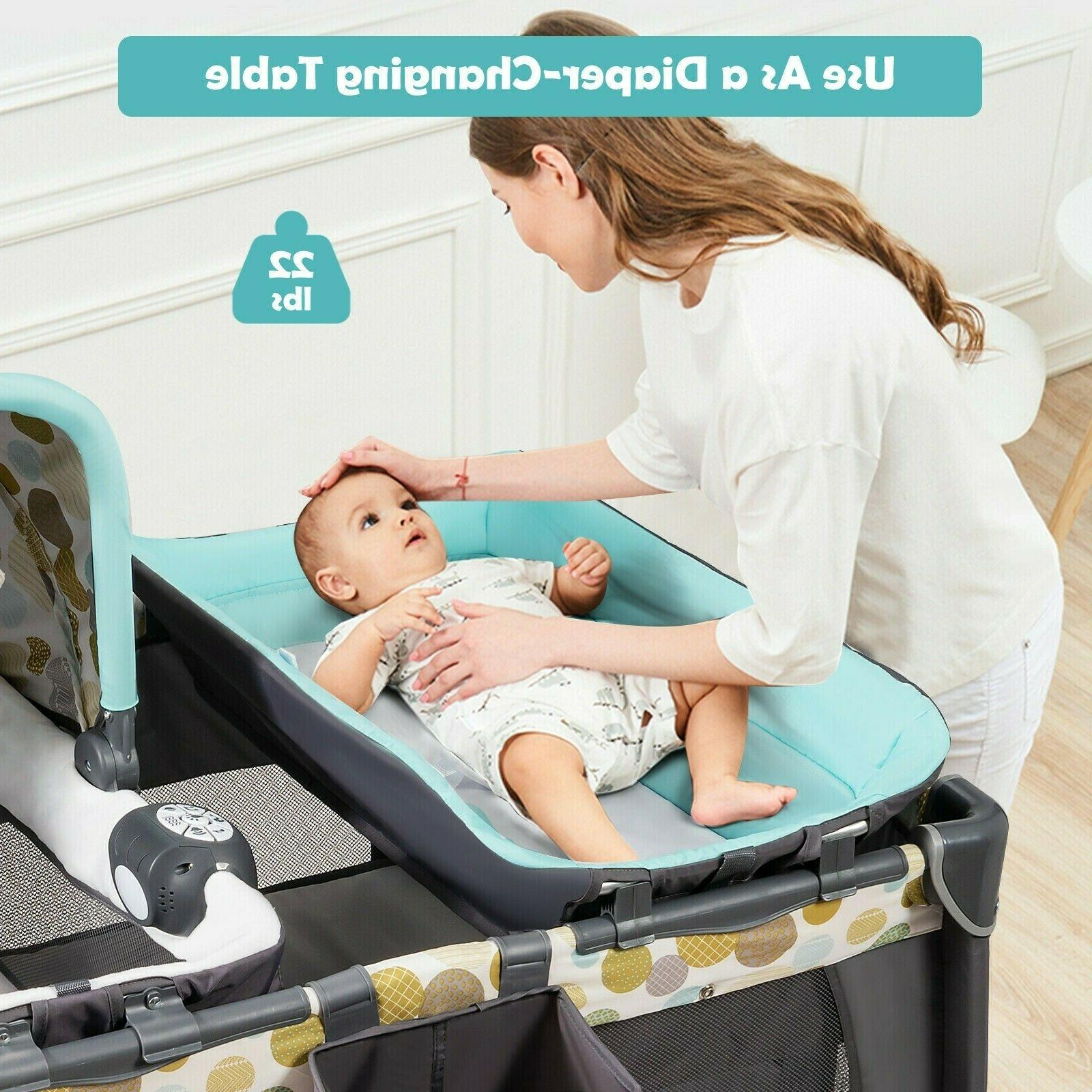 Travel Crib Nursery Center With 4in1