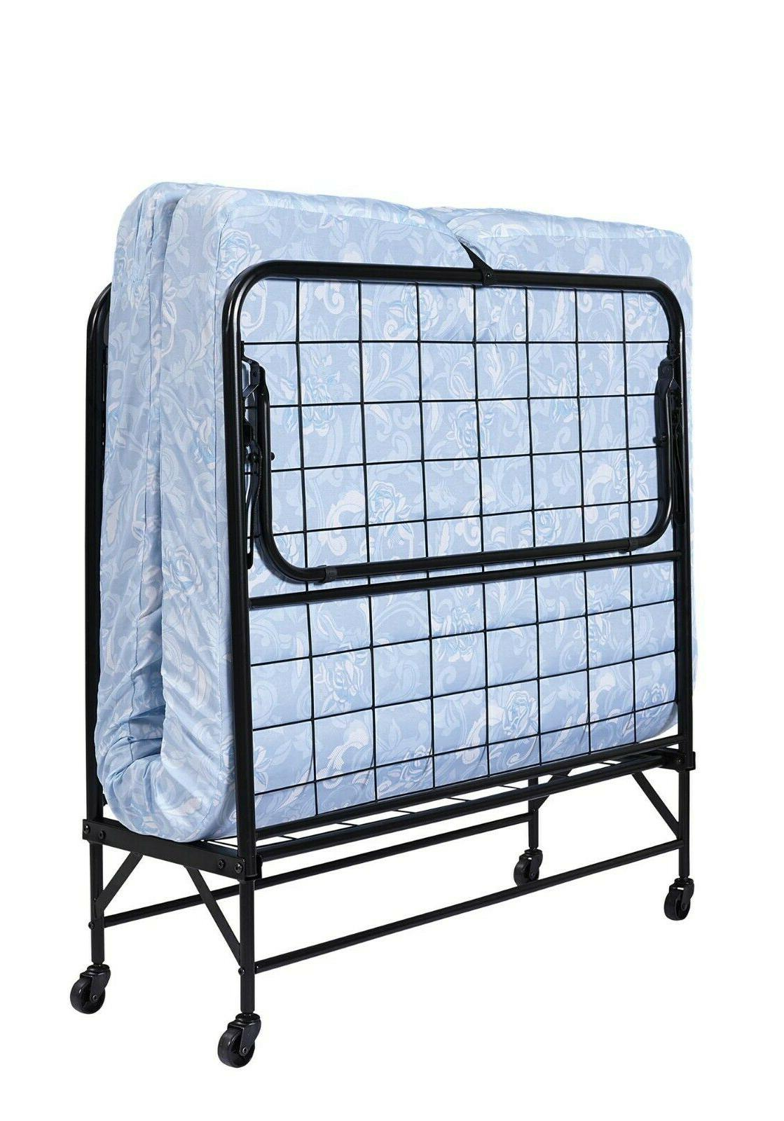 Twin Roll-Away Folding Bed Guest Sleeper Cot Pull-Out w Foam