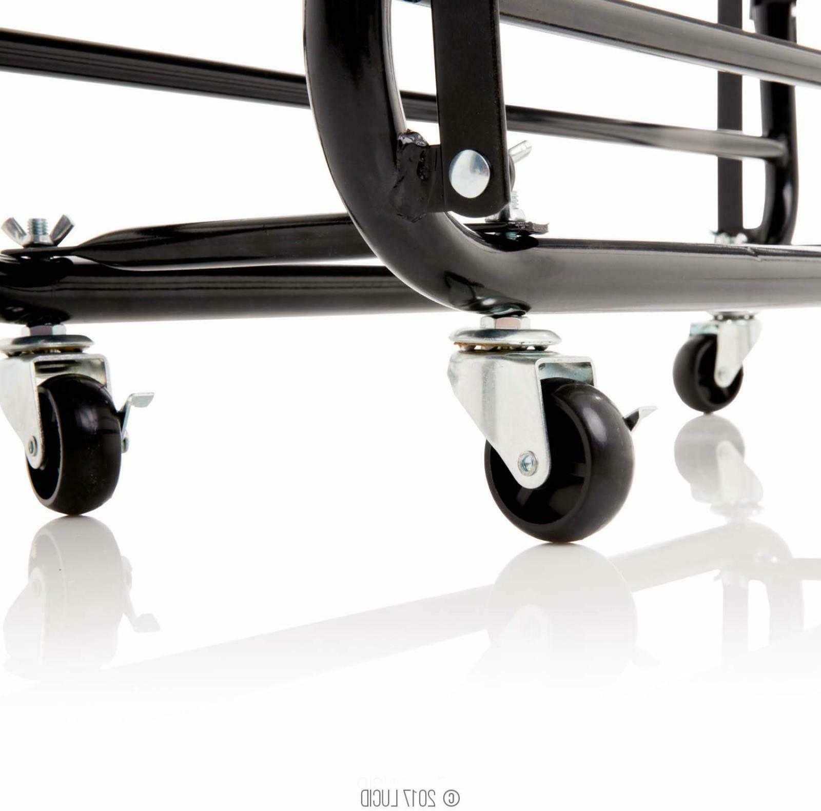 Twin XL Guest Bed Folding Memory Mattress Rolling Frame