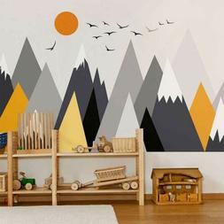Mountain Wall Sticker Covering Kid Nursery Baby Cot Decal Ho