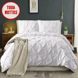 Moymo Pinch Pleated 3 Piece Duvet Cover With Zipper Closure,