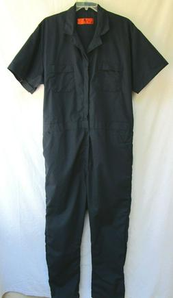 RED CAP..NAVY BLUE..COT/POL..WORK / MECHANIC..COVERALLS..NEW