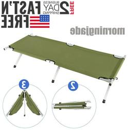 New Portable Military Folding Bed Cot Sleeping Outdoor Campi