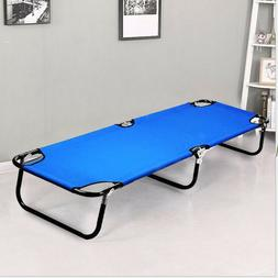 Outdoor Folding Bed Camping Cot Patio Hiking Sleeping Chaise