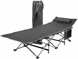 Zone Tech Outdoor Travel Cot Gray Portable Foldable Camping