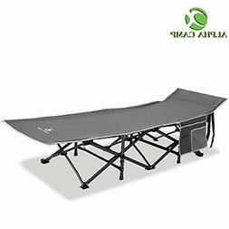 ALPHA CAMP Oversized Camping Cot Supports 600 lbs Sleeping B