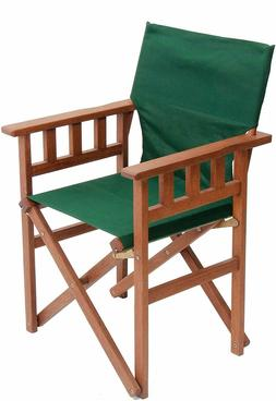BYER OF MAINE Pangean Campaign Chair Patio/Deck Wood Folding