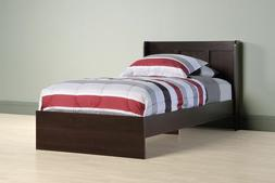 Sauder Parklane Twin Platform Bed With Headboard, Espresso