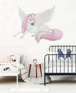Pegasus Unicorn Animal Wall Sticker Nursery Baby Cot Decal K