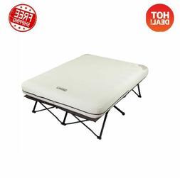 Coleman Queen Size Folding Camp Cot Air Mattress Bed Camping
