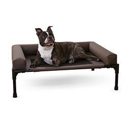 Raised Dog Bed Elevated Medium Bolster Pet Cot Waterproof Fu