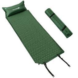 Self-Inflating Camping Pad Pillow Cot Bad Sleeping Bag Camp