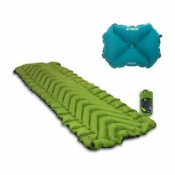 Klymit Static V2 Superlight Inflatable Pillow, Green with Fr