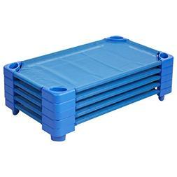 Ecr4kids Streamlinche Blue Standard Kiddie Nap Plastic Cot F