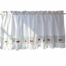 George Jimmy Sweet Strawberry Embroidered Curtain Kitchen Cu