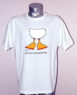 "Tennis T-Shirt ""Not Playing with a Full Duck"" 50% Cot/50% Po"