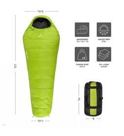 Tetonsports LEEF +20F 3.5LBS! Ultralight Sleeping Bag! Green