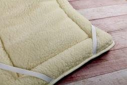 THICK MERINO WOOL PERUGIANO NATURAL Mattress Topper Bed Cove