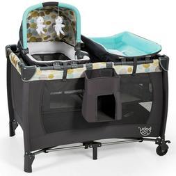 Travel Baby Crib Cot Nursery Center Playard Play With Bassin