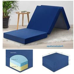 Tri Folding Gel Memory Foam Mattress Single Portable Sleep P